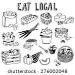 hand drawn local food doodles | Shutterstock .eps vector #276002048