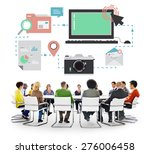 technology media social network ... | Shutterstock . vector #276006458