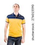 young man with yellow polo... | Shutterstock . vector #276015590