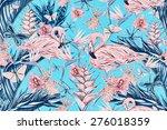 beautiful vintage seamless... | Shutterstock . vector #276018359