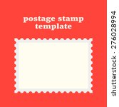 postage stamp template on red... | Shutterstock .eps vector #276028994