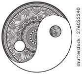 mandala. round ornament pattern....   Shutterstock .eps vector #276032240