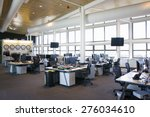 large view of a call center... | Shutterstock . vector #276034610