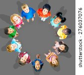 children childhood community... | Shutterstock . vector #276037076