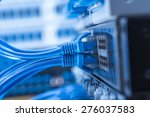network switch and ethernet... | Shutterstock . vector #276037583
