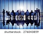 meeting seminar conference... | Shutterstock . vector #276043859