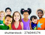 diversity children friendship... | Shutterstock . vector #276044174