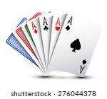 poker cards   Shutterstock .eps vector #276044378
