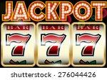 Stock vector lucky seven jackpot 276044426