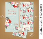 all in one wedding invitation... | Shutterstock .eps vector #276047009