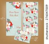 all in one wedding invitation... | Shutterstock .eps vector #276047009