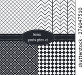 geometric seamless patterns set.... | Shutterstock .eps vector #276047510