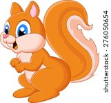 cartoon adorable squirrel | Shutterstock . vector #276050654
