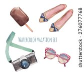 watercolor summer style set.... | Shutterstock .eps vector #276077768