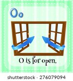 Flashcard Letter O Is For Open...
