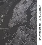 new york city  satellite map... | Shutterstock . vector #276083834