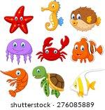 cartoon fish collection set | Shutterstock . vector #276085889