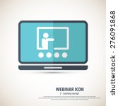 webinar icon   background.eps10 ... | Shutterstock .eps vector #276091868