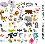 big animal cartoon set   Shutterstock .eps vector #276095246