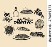 hand sketched italian menu.... | Shutterstock .eps vector #276095576