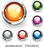 collection of six glossy... | Shutterstock .eps vector #27610312