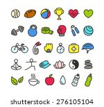 set of colorful hand drawn... | Shutterstock .eps vector #276105104