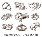 vector sketch of  detailed... | Shutterstock .eps vector #276115448