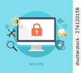 vector internet security... | Shutterstock .eps vector #276120158