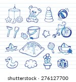 set of hand drawn doodle icons... | Shutterstock .eps vector #276127700