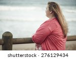 young overweight caucasian... | Shutterstock . vector #276129434