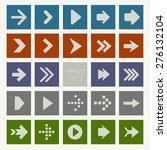 modern arrow icon set   vector... | Shutterstock .eps vector #276132104