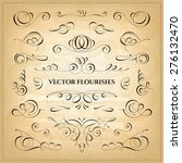 collection of vector flourishes.... | Shutterstock .eps vector #276132470