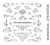 collection of vector flourishes.... | Shutterstock .eps vector #276132518