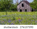 Old Wooden Barn In A Texas...