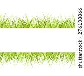 green grass frame isolated on... | Shutterstock .eps vector #276138866