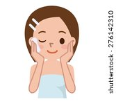 beautiful woman's skin care | Shutterstock .eps vector #276142310