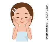 beautiful woman's skin care | Shutterstock .eps vector #276142334