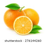 Group Of Fresh Oranges With...
