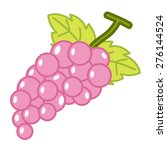 fruit grapes isolated... | Shutterstock .eps vector #276144524