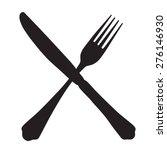 black silhouette of crossed... | Shutterstock .eps vector #276146930