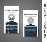 modern simple business card... | Shutterstock .eps vector #276154418