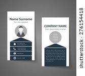 modern simple business card... | Shutterstock .eps vector #276154418