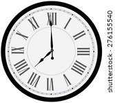 Black Wall Clock Vector...