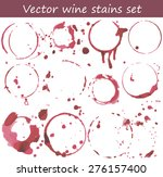 vector set of wine stains. | Shutterstock .eps vector #276157400