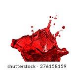 red juice splash closeup... | Shutterstock . vector #276158159