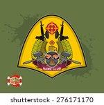 paintball logo. military emblem.... | Shutterstock . vector #276171170