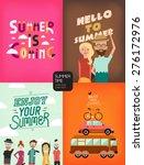 summertime illustration with... | Shutterstock .eps vector #276172976