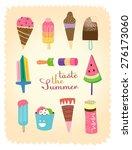 ice cream set.  illustration... | Shutterstock .eps vector #276173060