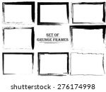 set of stylized abstract grunge ... | Shutterstock . vector #276174998