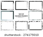 set of stylized abstract grunge ... | Shutterstock . vector #276175010